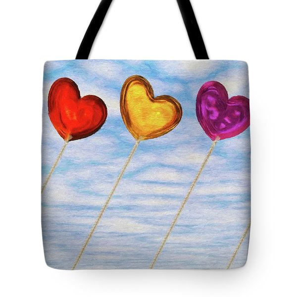 Tote Bag featuring the painting Lighter Than Air by Jeffrey Kolker