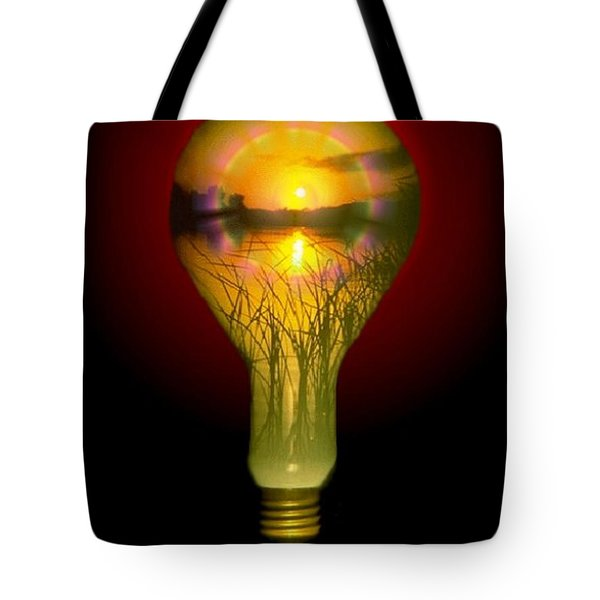 Lighthearted Sunset Tote Bag