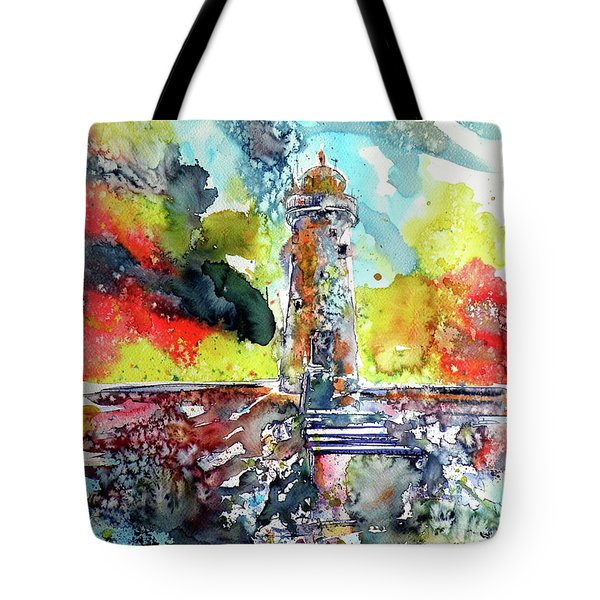 Lighthouse After Storm Tote Bag by Kovacs Anna Brigitta