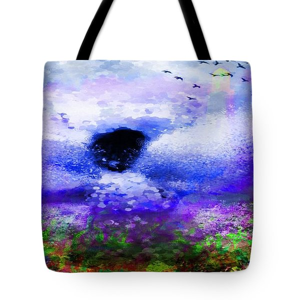 Lighthouse Angel Purple In Hotty Totty Style Tote Bag