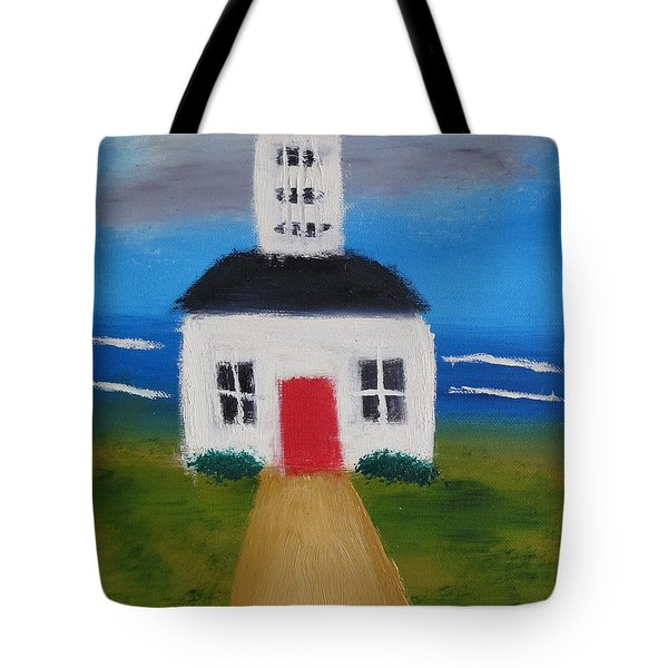 Lighthouse Tote Bag by Artists With Autism Inc