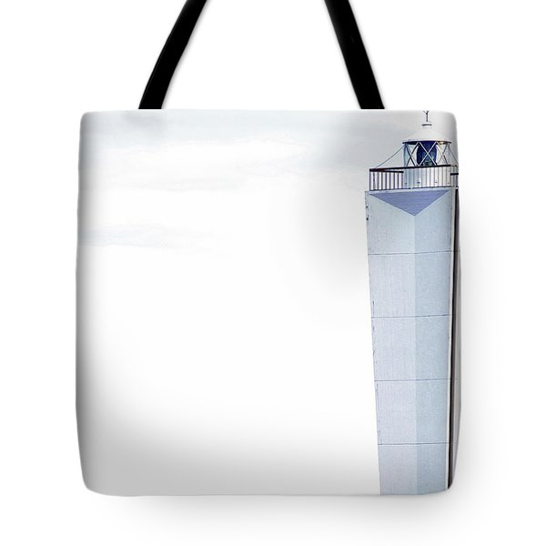 Tote Bag featuring the photograph Lighthouse At Cape Jervis by Stephen Mitchell