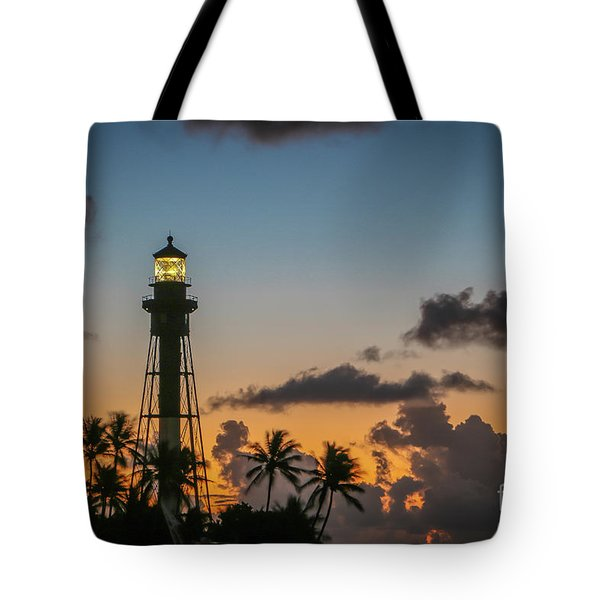 Lighthouse At Dawn #1 Tote Bag