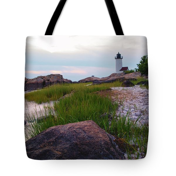 Lighthouse At Dusk Tote Bag
