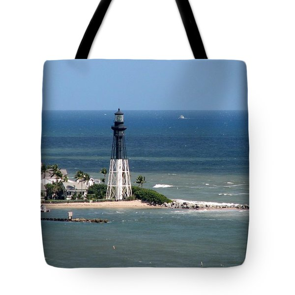 Lighthouse At Hillsboro Beach, Florida Tote Bag