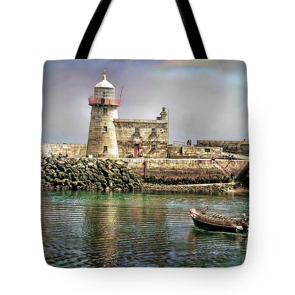 Lighthouse At Howth, Ireland Tote Bag