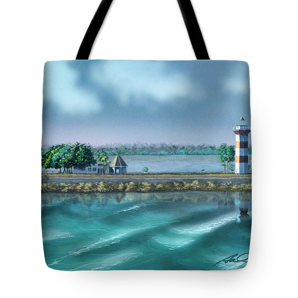 Lighthouse At Lake Conroe Tote Bag