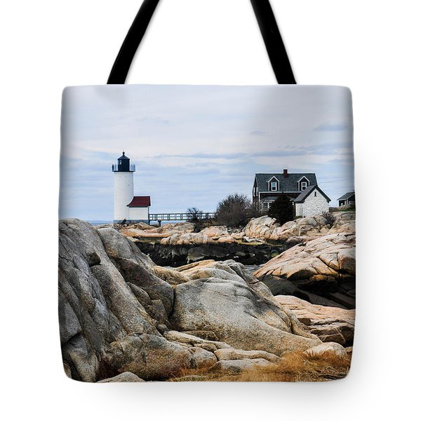 Lighthouse At Low Tide Tote Bag