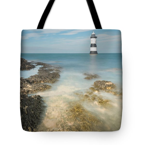 Lighthouse At Penmon Tote Bag