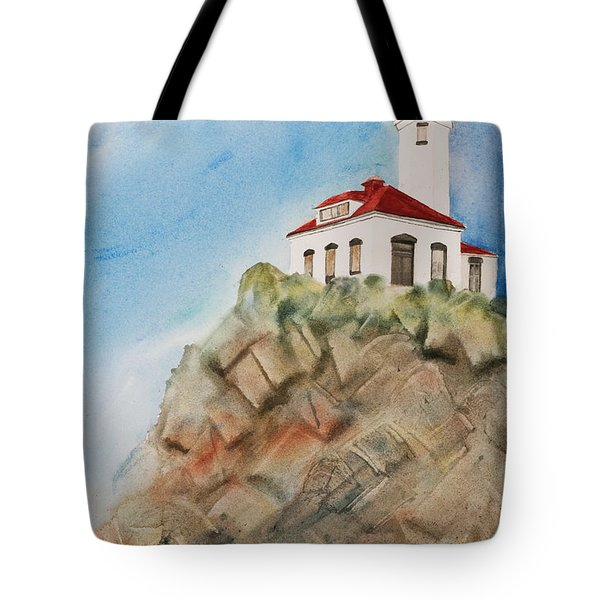 Lighthouse At Point Wilson Tote Bag