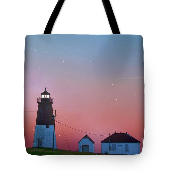 Tote Bag featuring the photograph  Lighthouse At Sunrise by Juli Scalzi