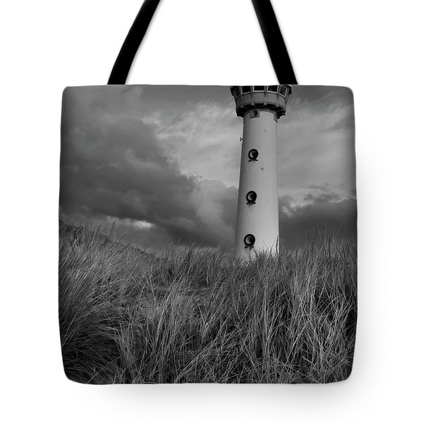 Lighthouse Bw Tote Bag