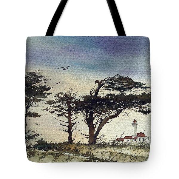 Lighthouse Coast Tote Bag
