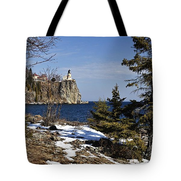 Tote Bag featuring the photograph Lighthouse Framed by Larry Ricker