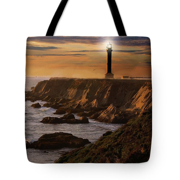 Lighthouse  Tote Bag by Harry Spitz