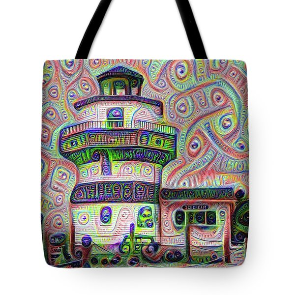 Lighthouse Ice Cream Shop - Wildwood Crest Tote Bag by Bill Cannon