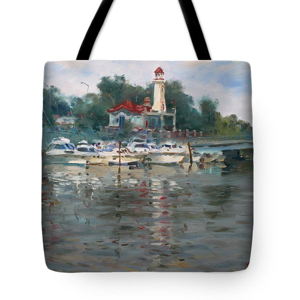Lighthouse In Lake Shore Mississauga Tote Bag