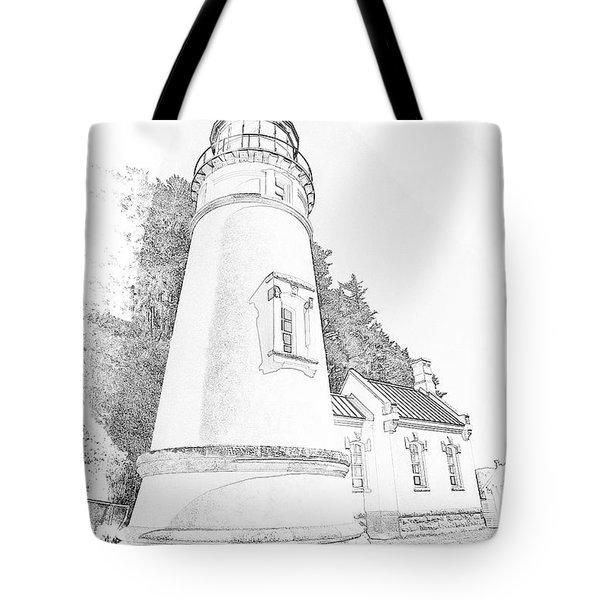 Lighthouse In Oregon Tote Bag