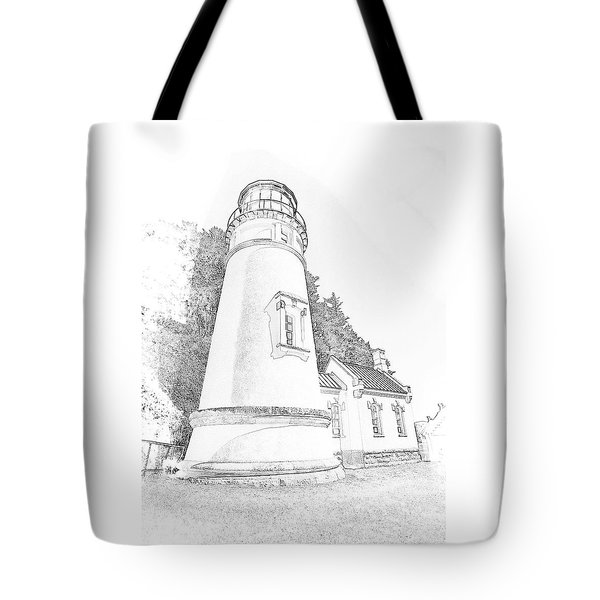 Lighthouse In Oregon Tote Bag