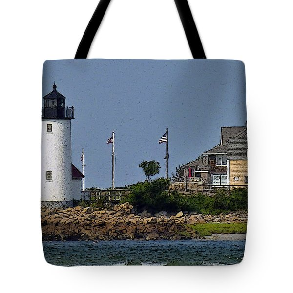 Lighthouse In The Ipswich Bay Tote Bag