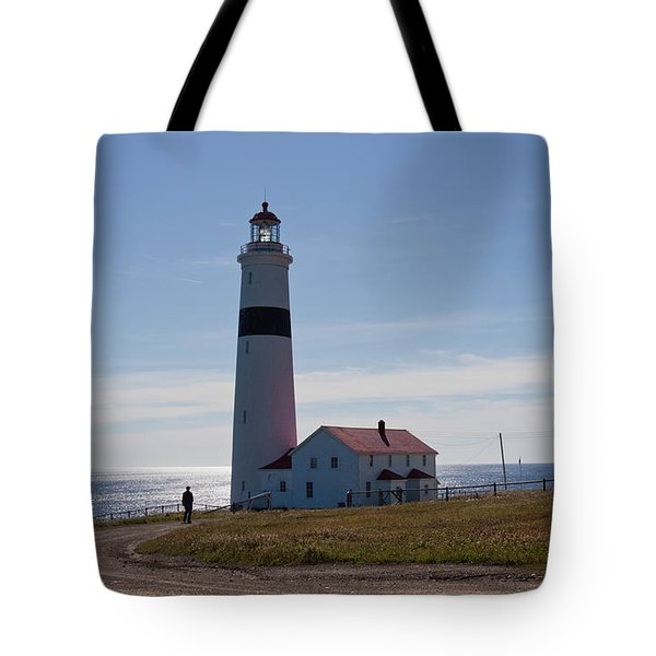 Lighthouse Labrador Tote Bag