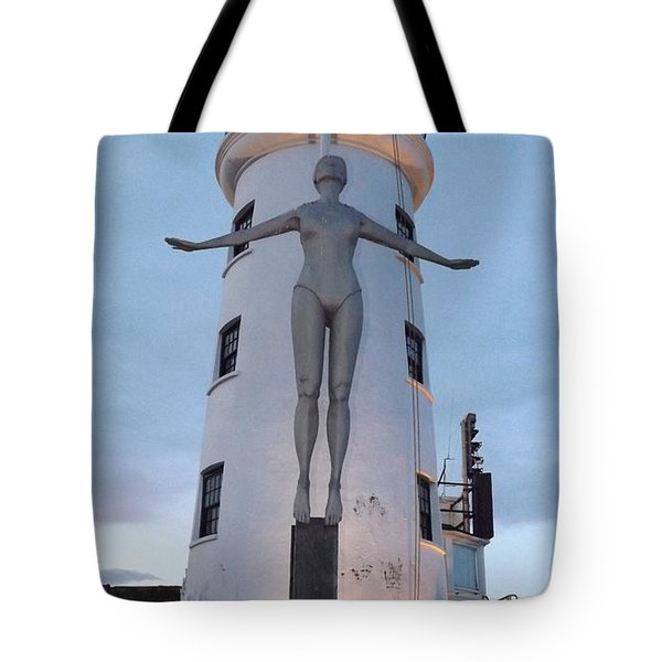 Lighthouse Lady Tote Bag