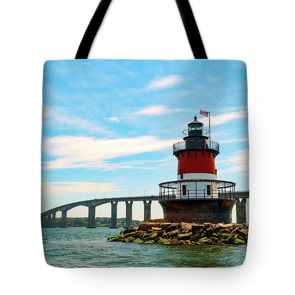 Tote Bag featuring the photograph Lighthouse On A Small Island by Brian Hale