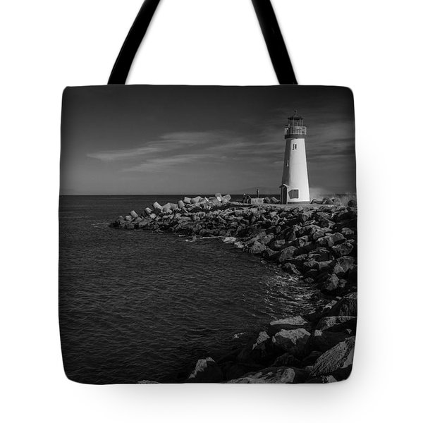 Lighthouse On The Point Tote Bag