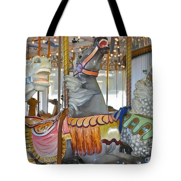Lighthouse Park Carousel Tote Bag