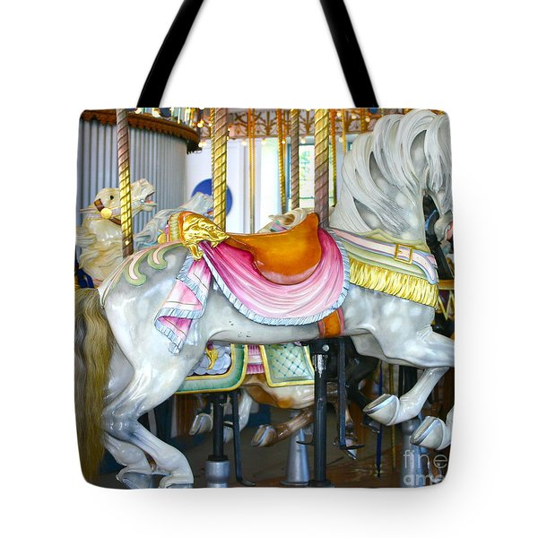 Lighthouse Park Carousel D Tote Bag