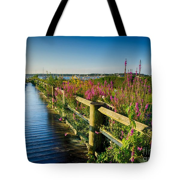 Lighthouse Path Tote Bag by Mark Miller