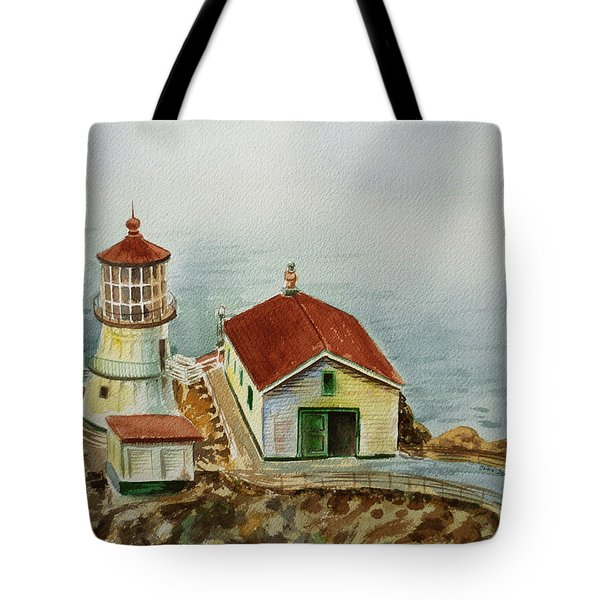 Lighthouse Point Reyes California Tote Bag