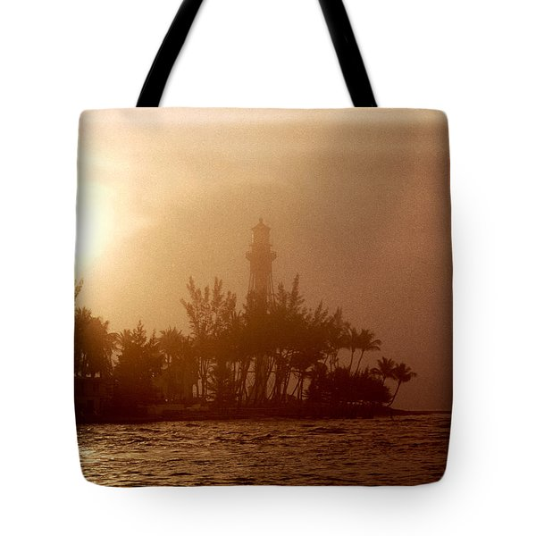 Lighthouse Point Sunrise Tote Bag