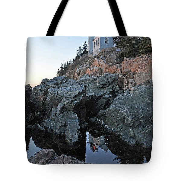Lighthouse Reflection Tote Bag by Glenn Gordon