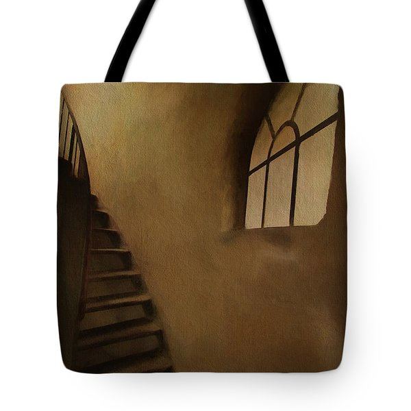 Tote Bag featuring the photograph Lighthouse Stairs by Jim  Hatch