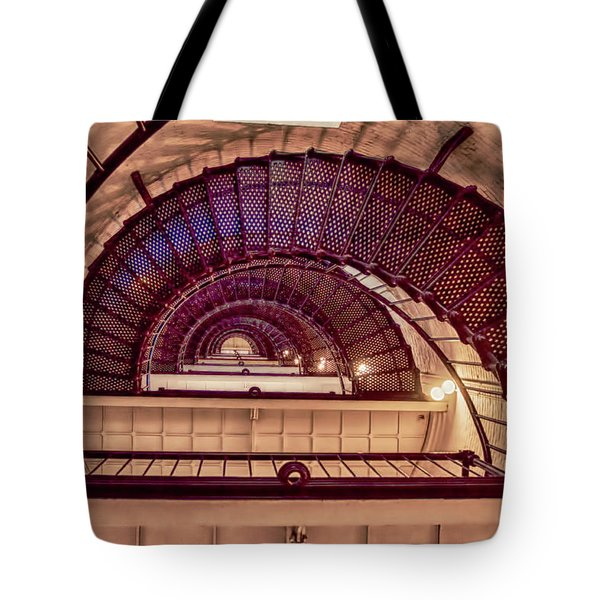 Lighthouse Stairwell Tote Bag