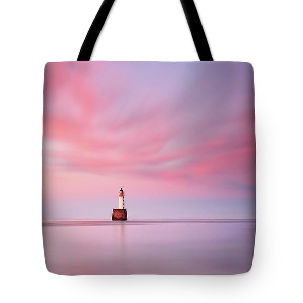 Tote Bag featuring the photograph Lighthouse Sunset by Grant Glendinning