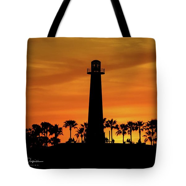 Tote Bag featuring the photograph Lighthouse by T A Davies
