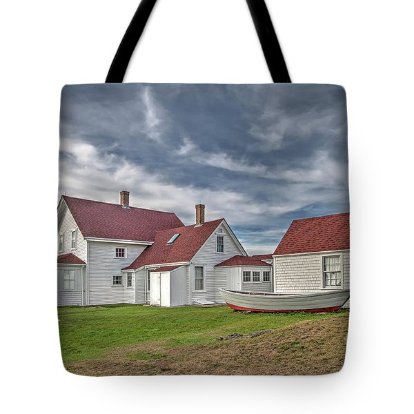 Keepers House At The Monheagn Lighthouse Tote Bag