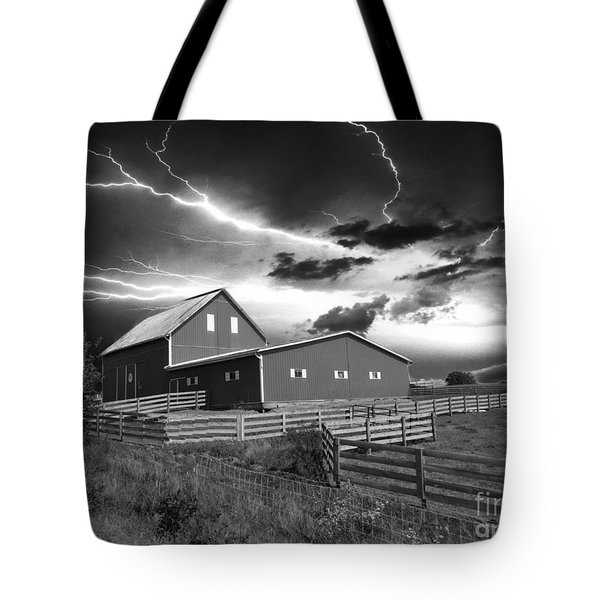 Lighting Strike  Tote Bag