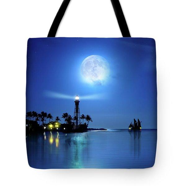 Lighting The Lighthouse Tote Bag