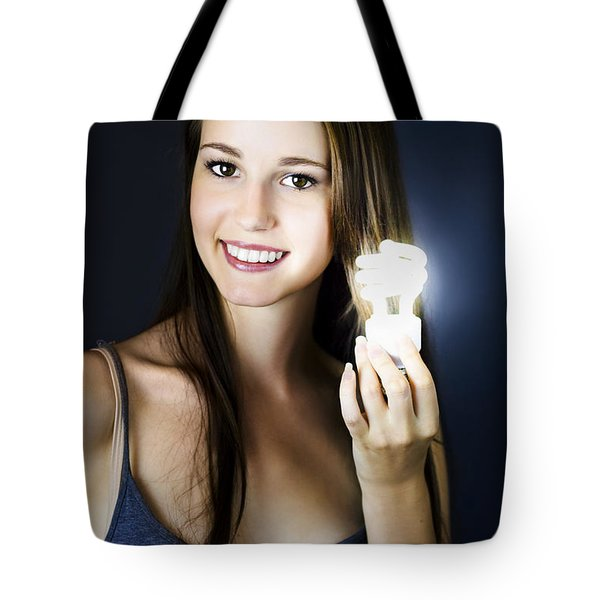 Tote Bag featuring the photograph Lighting The Way To Innovation by Jorgo Photography - Wall Art Gallery