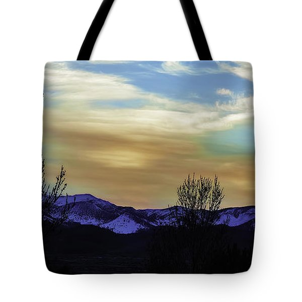 Lighting Up Mt Rose Tote Bag