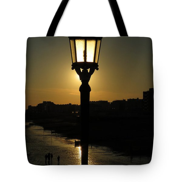 Lighting Up The Beach Tote Bag
