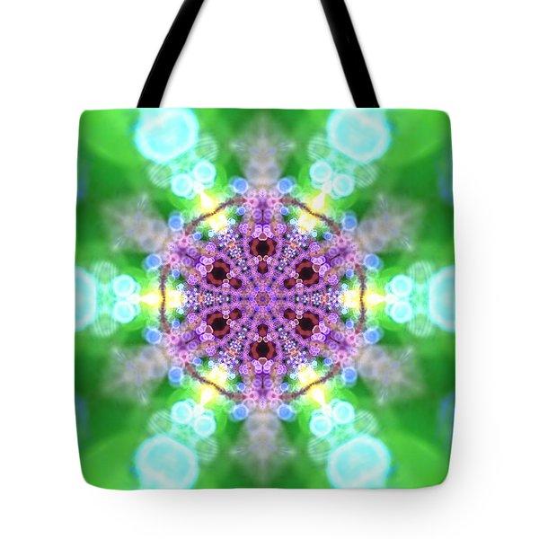 Tote Bag featuring the digital art Lightmandala 6 Star 3 by Robert Thalmeier