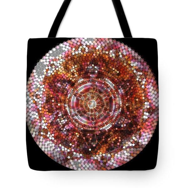 Tote Bag featuring the digital art Lightmandala 6 Star Morp 5 by Robert Thalmeier