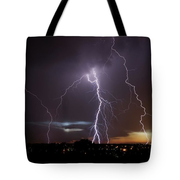 Lightning At Dusk Tote Bag