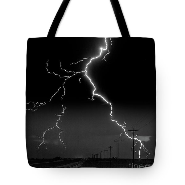 Lightning Bolt Tote Bag