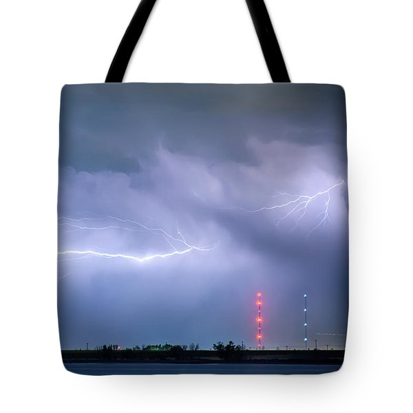 Lightning Bolting Across The Sky Tote Bag by James BO  Insogna