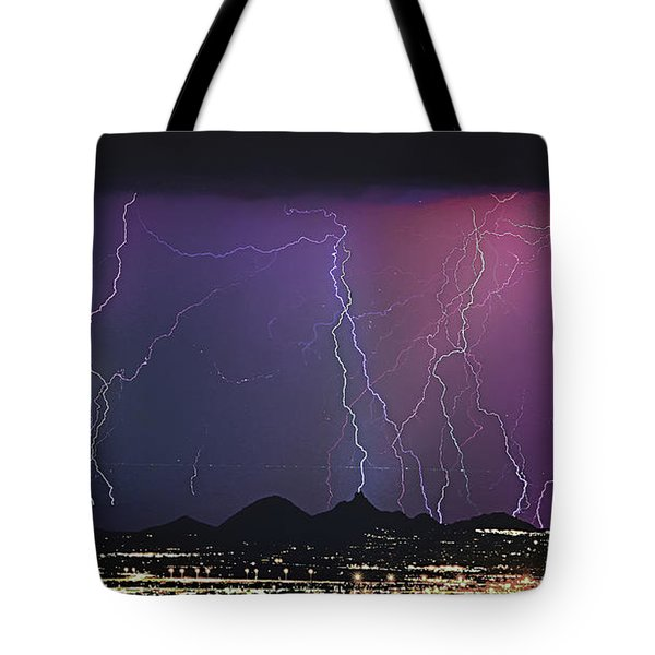 Lightning City Tote Bag by James BO  Insogna